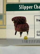 Vintage Dollhouse Take a Seat by Raine Slipper Chair C. 1880 With Coa