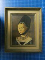 Unbekannter Künstler Kunstdruck Frau Holle 35x30cm Y6-220