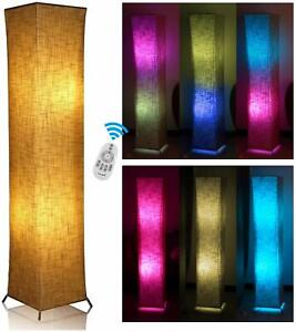RGB Floor Lamp Remote Control Fabric Lamp Christmas Party Living Room Bedroom