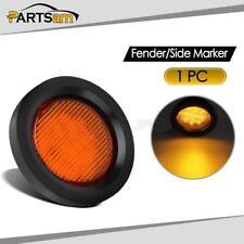"""Amber LED Round Trailer Truck Clearance Side Marker Light Grommet 2.5"""""""