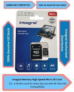 64GB Micro SD Speicherkarte Klasse 10 U3 Samsung Core 4G LTE, Advance, Core Plus