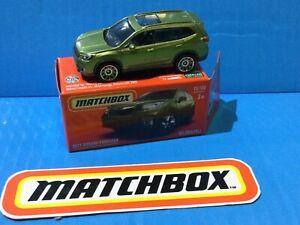 2021 MATCHBOX NEW MODEL MIX 5 2019 SUBARU FORESTER #10 GREEN SUV スバル•フォレスタ