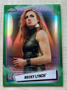 2021 Topps WWE Chrome Becky Lynch Green Refractor /99 #8