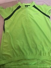 Unisex Cycling Short Sleeved Top  ..muddy Fox  ..size Lg ...lime Green