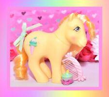 ❤️My Little Pony MLP G1 Vtg Swirly Whirly Butter Kiss Sundae Best Pony & Comb❤️