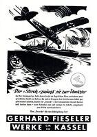 Flugzeug Fieseler Storch Reklame 1942 Insel Samothraki Deutsche Luftwaffe WK 2 +