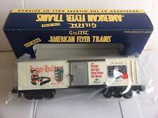 900 AMERICAN FLYER 1997 CHRISTMAS BOX CAR # 6-48327,ORIGINAL BOX!!!