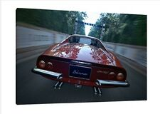 1971 Ferrari Dino 246 GT 30x20 Inch Canvas Framed Picture Print Classic Car