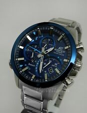 Mens Casio Edifice EQB500DB-2A Bluetooth Solar Power Multi-function 45mm Watch