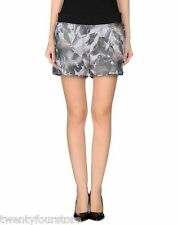$170 Theory 38 Young Shorts in Floral Rave Mesh Grays sz L