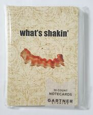 What's Shakin' Bacon Blank Note Cards & Envelopes Set of 10
