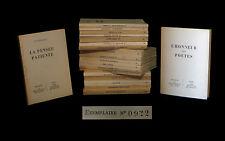 [POESIE RESISTANCE EDITIONS DE MINUIT ARAGON VERCORS PAULHAN TRIOLET STEINBECK..