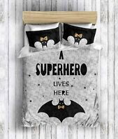 Superhero Batman Bedding 100% Cotton Full/Queen Size Duvet Cover Set for Kids