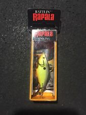 "Rapala RNR 4 Rattlin Rap CHS Chart Shiner  1-1/2"" 3/16 Oz (made In Ireland)"