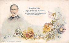 HENRY VAN DYKE~QUOTATION~PANSY FLOWERS~COBB SHINN ARTIST SIGNED POSTCARD 1913 PM