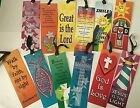 Lot 12 Bookmarks Love Great is the Lord Jesus Bible Christian Satin Ribbon