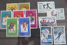 Briefmarken Korea 1972 Olymp. Winterspiele Sapporo-Innsbruck + 1980 Lake Placid