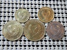 FIVE OLD COINS FROM CYPRUS 1983-87 UNCIRCULATED FREE SHIPPING TO USA