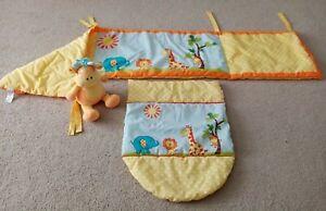 Newborn Baby Moses Basket Giraffe Monkey Elephant Bedding Blanket Giraffe Toy