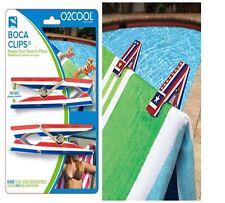 2 pk New Set Patriotic Beach Pool Boca Towel Clip Chair Holder American Usa Flag