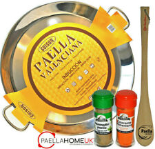 STAINLESS STEEL PAELLA PAN 28cm INDUCTION & VITROCERAMIC + SPOON + PAELLA GIFT
