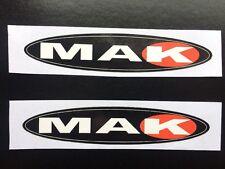 MAK Performance Wheels Stickers / Decals x 2