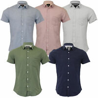 Mens Linen Shirt Threadbare Short Sleeved Brave Soul Collared Casual Summer New