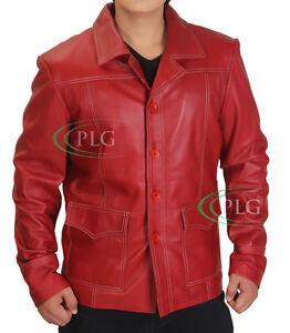 Fight Club Brad Pitt Tyler Durden FC Coat Red Brand New - ALL SIZES