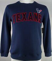 Houston Texans NFL Hands High Men's Navy Blue Embroidered Crewneck Sweater