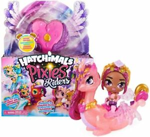 Hatchimals Pixies Riders Crystal Charlotte Pixie and Draggle Glider Set New