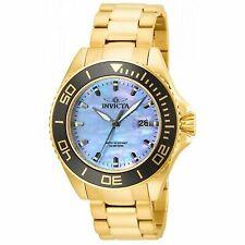 Invicta Men's 23071 Pro Diver Quartz 3 Hand Platinum Dial Watch
