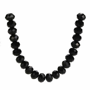 500pcs Mixed Faceted Crystal Glass Rondelle Loose Spacer Beads Jewelry Making