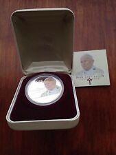 2005 1OZ 999 FINE SILVER PROOF COOK ISLANDS PERTH MINT POPE JOHN PAUL COIN COA