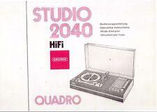 Grundig Bedienungsanleitung für Studio 2040 Quadro deutsch englisch französisch
