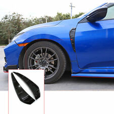 Shark Gills Air Flow Side Vent Exterior Grille Decorative For Honda 16-18 Civic
