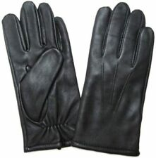 NWT New Men's FOWNES Leather Gloves Wool Cashmere Blend Lining Black Medium