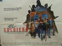 TOY SOLDIERS Sean Astin (1979) Rare original UK quad movie poster UK POST FREE