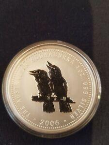 1oz 2006 Perth Mint Kookaburra Silver Coin . As new in Capsule