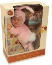 Anne geddes bean filled soft baby bunny poupée rose-new in box