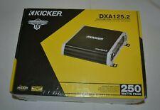 KICKER DXA 125.2 TWO CHANNEL FULL RANGE STEREO CAR AMPLIFIER FACTORY SEALED !!