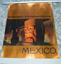 Mid Century Braniff Airlines Mexico Poster Chapultepec Fountains Mexico Cty