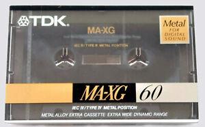 TDK MA-XG 60  BLANK CASSETTE TAPE (SEALED)