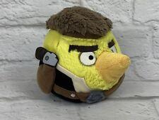 "Angry Birds Plush Stuffed Toy 8"" Ball Han Solo Star Wars Yellow Brown"