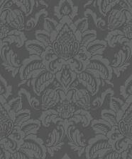 Precious Metals Glisten Damask Wallpaper Gunmetal Grey Arthouse 673201