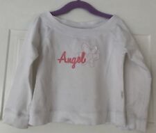 Pumpkin Patch Girls White Jumper With Pink Angel. Size 4. Collect Or Post