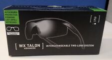 Wiley X Tactical Sunglasses WX Talon Advanced CHTAL1, Smoke & Clear Lenses