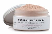 Pink Clay Face Mask - For a Glowing Skin without Acne, Oil & Blackheads