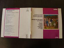 MUSIQUE DU XIVe s à BACH / ENSEMBLE de CUIVRES ANDRE BERNARD - LP IPG 340050