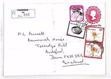 XX44 1979 NEW ZEALAND *Tokoroa* 14c Stationery Envelope REGISTERED Cover