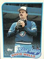 1989 Topps David Wells baseball card Toronto Blue Jays Mint #567 MLB Rookie RC